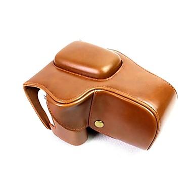 economico Custodie, borse e tracolle-copertura del sacchetto di caso della macchina fotografica del cuoio del dengpin per l'obiettivo di canon eos 200d 18-55mm (colori assortiti)