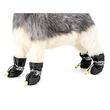 cheap Dog Clothing & Accessories-Dog Anti-Slip Sole Snow Boots Dog Clothes Solid Colored Red Blue Pink Fabric Costume For Spring &  Fall Winter Casual / Daily Keep Warm New Year's