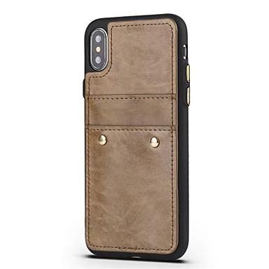 Porta agli Per iPhone unica Tinta di Resistente per 8 Per iPhone Resistente retro X urti Custodia pelle credito X 06323197 carte vera iPhone Apple PdcFYwcqx4