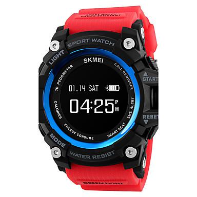 levne Pánské-SKMEI Pánské Náramkové hodinky Digitální hodinky japonština Digitální Z umělé kůže Černá / Červená / Zelená 30 m Voděodolné Velký ciferník Digitální Přívěšky - modrá / černá Zelená Khaki