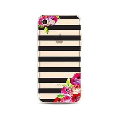 Coque Pour Apple iPhone X iPhone 8 Transparente Motif Coque Lignes / Vagues Fleur Flexible TPU pour iPhone X iPhone 8 Plus iPhone 8