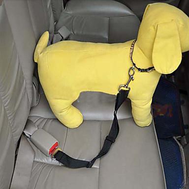 Köpek Köpek Oto Koltuğu Tasması / Köpek Emniyet Kemeri Ayarlanabilir / İçeri Çekilebilir Güvenlik Solid Naylon Siyah Mor Kırmzı Mavi Pembe