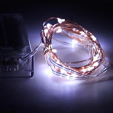 5 MB / 10 m Łańsuchy świetlne 100 SMD Diody LED Ciepła biel / Biały / Czerwony Wodoodporne 4.5 V / IP65