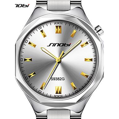 SINOBI Pánské Náramkové hodinky japonština Křemenný Stříbro 30 m Voděodolné  Velký ciferník Analogové Luxus Minimalistické - 9a5f16cf49