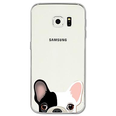 Недорогие Чехлы и кейсы для Galaxy S6-Кейс для Назначение SSamsung Galaxy S8 Plus / S8 / S7 edge С узором Кейс на заднюю панель С собакой / Животное Мягкий ТПУ