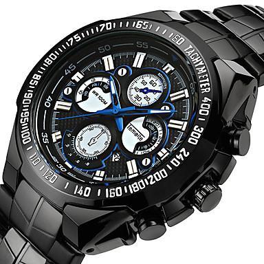 Pánské Sportovní hodinky Vojenské hodinky Náramkové hodinky japonština Křemenný Černá 30 m Voděodolné Alarm Kalendář Analogové Klasické Vintage Na běžné nošení Módní Elegantní - stříbrná / čern