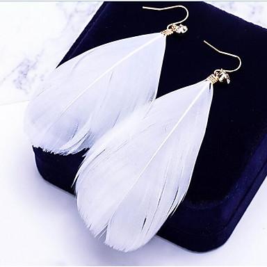 여성용 드랍 귀걸이 - Leaf Shape 보헤미안, 대형 화이트 / 블루 / 핑크 제품 일상 / 거리