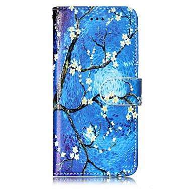 Coque Pour Apple iPhone X iPhone 8 Porte Carte Portefeuille Avec Support Coque Intégrale Fleur Dur faux cuir pour iPhone X iPhone 8 Plus