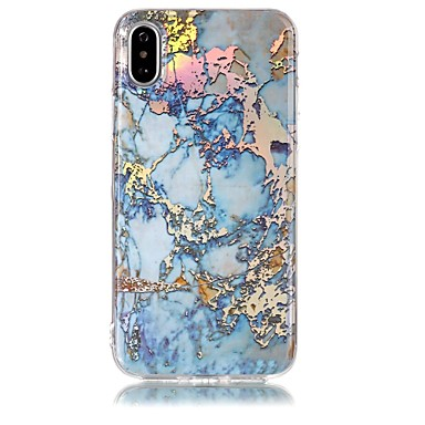 Case For Apple iPhone X iPhone 8 IMD Pattern Back Cover Marble Soft TPU for iPhone X iPhone 8 Plus iPhone 8 iPhone 7 Plus iPhone 7 iPhone