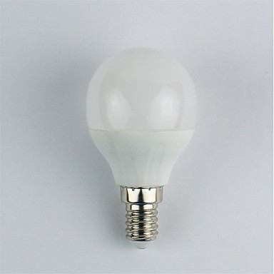 1pc 4W 310lm E14 LED-bollampen G45 6 LED-kralen SMD 3528 Warm wit 110-240V