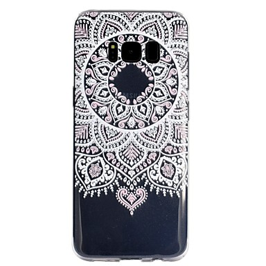 voordelige Galaxy S-serie hoesjes / covers-hoesje Voor Samsung Galaxy S8 Plus / S8 Transparant / Patroon Achterkant Lace Printing Zacht TPU