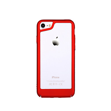 voordelige iPhone 6 Plus hoesjes-hoesje Voor Apple iPhone X / iPhone 7 Plus / iPhone 7 Ultradun Bumper Effen Hard PC