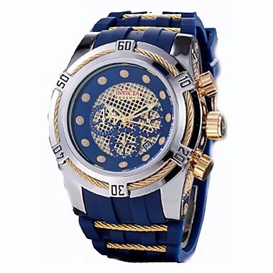 זול שעוני גברים-בגדי ריקוד גברים קופסאות לשעון שעונים יום יומיים שעוני ספורט קווארץ סיליקוןריצה גומי שחור עמיד במים לוח שנה כרונוגרף אנלוגי קלסי יום יומי - כסף /  שחור שחור / כחול כסוף / כחול שנתיים חיי סוללה