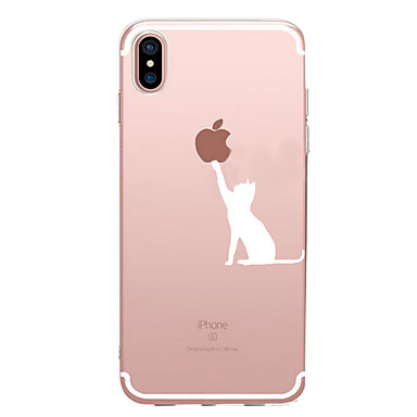 Case For Apple iPhone X / iPhone 8 / iPhone 7 Pattern Back Cover Playing with Apple Logo Soft TPU for iPhone X / iPhone 8 Plus / iPhone 8