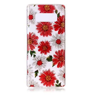 Capinha Para Samsung Galaxy NNote 8 Ultra-Fina Transparente Estampada Capa traseira Flor Macia TPU para Note 8 Note 5 Edge Note 5 Note 4