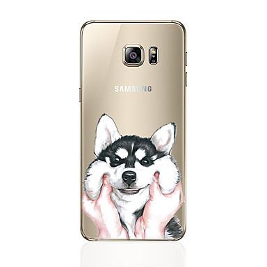 Недорогие Чехлы и кейсы для Galaxy S6-Кейс для Назначение SSamsung Galaxy S8 Plus / S8 / S7 edge С узором Кейс на заднюю панель С собакой Мягкий ТПУ