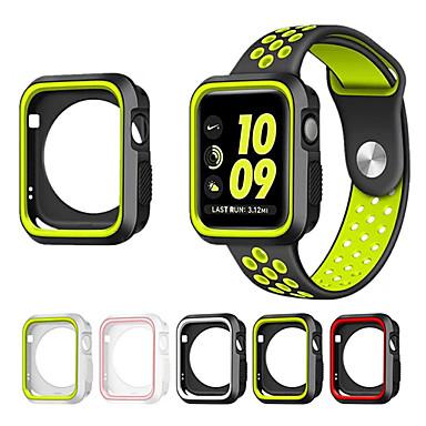 Недорогие Кейсы для Apple Watch-для серии часов яблока 1/2 38/42 мм устойчивый к царапинам гибкий корпус тонкий легкий защитный кожух бампера добавляет ленту