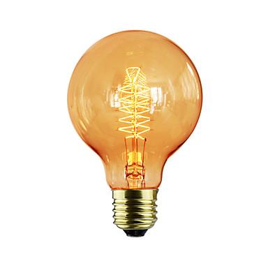 1pc 60W E27 E26/E27 G80 Warm White K Incandescent Vintage Edison Light Bulb AC 220-240V V
