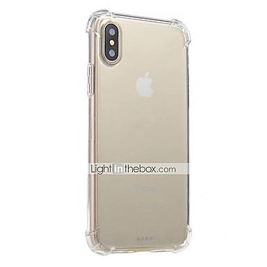 For iPhone X iPhone 8 iPhone 8 Plus iPhone 6 iPhone 6 Plus Case Cover Shockproof Transparent Back Cover Case Solid Color Soft TPU for