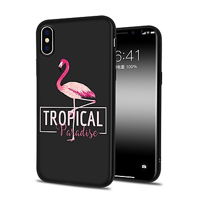 TPU iPhone Per X retro Morbido per Apple X iPhone iPhone iPhone Per iPhone Plus iPhone Custodia 06446779 8 8 7 8 Fenicottero disegno Plus Fantasia 7OqzInn