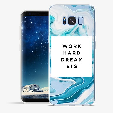 Недорогие Чехлы и кейсы для Galaxy S6-Кейс для Назначение SSamsung Galaxy S8 Plus / S8 / S7 edge С узором Кейс на заднюю панель Слова / выражения / Мрамор Мягкий ТПУ