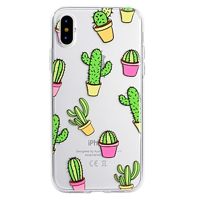 Case For Apple iPhone X iPhone 8 Plus Pattern Back Cover Cartoon Soft TPU for iPhone X iPhone 8 Plus iPhone 8 iPhone 7 Plus iPhone 7