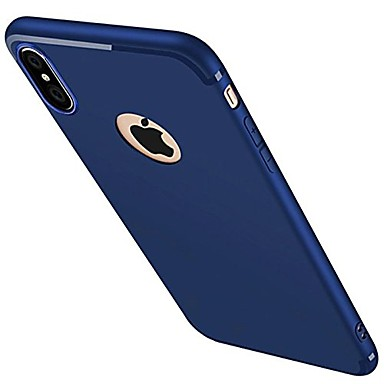 Case For Apple iPhone X iPhone 8 iPhone 6 iPhone 7 Plus iPhone 7 Frosted Back Cover Solid Color Soft Silicone for iPhone X iPhone 8 Plus