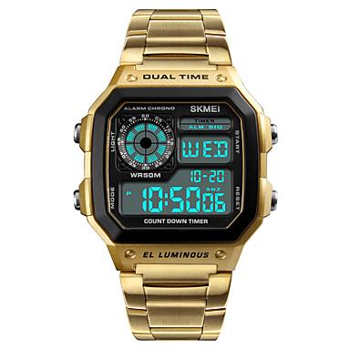 Недорогие Часы на металлическом ремешке-Муж. Спортивные часы Наручные часы электронные часы Японский Цифровой Нержавеющая сталь Черный / Серебристый металл 50 m Защита от влаги Будильник Календарь Цифровой На каждый день -  / Один год