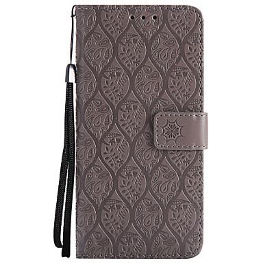 Недорогие Чехлы и кейсы для Galaxy S3-Кейс для Назначение SSamsung Galaxy S8 Plus / S8 / S7 edge Кошелек / Бумажник для карт / со стендом Чехол Однотонный Твердый Кожа PU