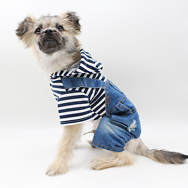 Dog Jumpsuit Dog Clothes Casual/Daily British Blue Costume For Pets