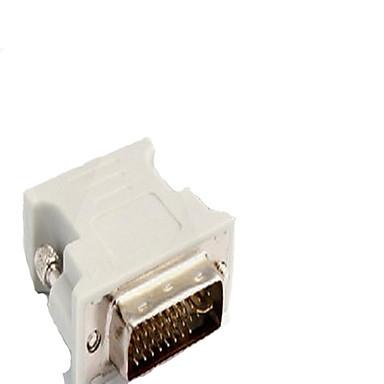DVI Adapter, DVI to VGA Adapter Male - Female 720p Vernickelter Stahl