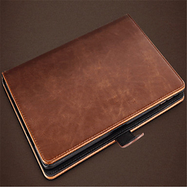 Case For iPad 9.7 (2017) iPad Pro 9.7'' Card Holder Wallet with Stand Auto Sleep/Wake Up Full Body Cases Solid Color Hard PU Leather for