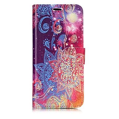 Недорогие Чехлы и кейсы для Galaxy S6-Кейс для Назначение SSamsung Galaxy S8 Plus / S8 / S7 edge Кошелек / Бумажник для карт / Флип Чехол Мандала Твердый Кожа PU