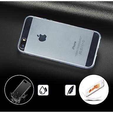 voordelige iPhone 5 hoesjes-hoesje Voor iPhone 5 / Apple iPhone 5 Transparant Achterkant Effen Hard PC