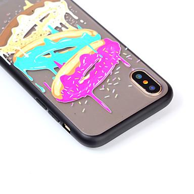 Per iPhone Decorazioni Per 06483439 Fantasia Alimenti disegno per rilievo PC Custodia Resistente X iPhone X 8 retro in Apple Transparente iPhone q1xgpB