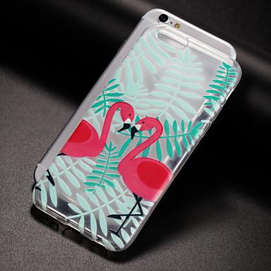 Kılıf Na Apple iPhone X iPhone 8 Plus Etui iPhone 5 iPhone 6 iPhone 7 Półprzezroczyste Wzór Czarne etui Flaming Miękkie TPU na iPhone X