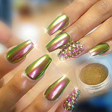 1pc Powder Glitter Nail Mirror Effect Sparkle Shine Art