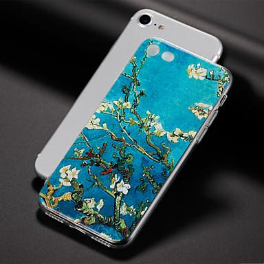 Pouzdro Uyumluluk Apple iPhone X iPhone 8 iPhone 6 iPhone 7 Plus iPhone 7 Ultra İnce Temalı Arka Kapak Çiçek Yumuşak TPU için iPhone X