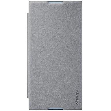 voordelige Hoesjes / covers voor Sony-hoesje Voor Sony Xperia XZ1 Compact / Sony Xperia XZ1 / Xperia XA1 Plus Kaarthouder / Flip / Mat Volledig hoesje Effen Hard PU-nahka