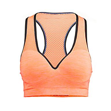 Mulheres Sustentação Média Sutiã Esportivo Secagem Rápida Permeável á Humidade Respirável Compressão Sutiã Esportivo Blusas para Ioga