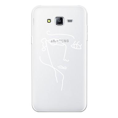voordelige Galaxy J-serie hoesjes / covers-hoesje Voor Samsung Galaxy J7 (2017) / J7 (2016) / J7 Patroon Achterkant Lijnen / golven / Sexy dame / Geometrisch patroon Zacht TPU