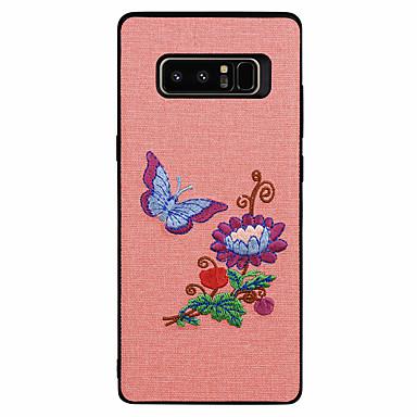 voordelige Galaxy Note-serie hoesjes / covers-hoesje Voor Samsung Galaxy Patroon Vlinder / Landschap / Bloem Zacht