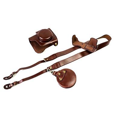 dengpin pu кожаный чехол для камеры сумка для olympus e-m10 mark iii 14-42mm объектив (различные цвета)