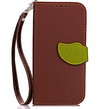 Недорогие Чехлы и кейсы для Galaxy S4 Mini-Кейс для Назначение SSamsung Galaxy S9 / S9 Plus / S8 Plus Кошелек / Бумажник для карт / со стендом Чехол Однотонный Твердый Кожа PU