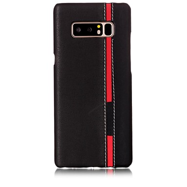 voordelige Galaxy Note-serie hoesjes / covers-hoesje Voor Samsung Galaxy Note 8 Patroon Achterkant Lijnen / golven Hard PU-nahka