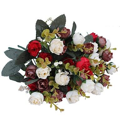 ieftine Decor Casă-Flori artificiale 2 ramură Pastoral Stil Trandafiri Față de masă flori