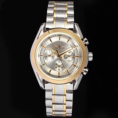 זול שעוני גברים-Jaragar בגדי ריקוד גברים שעון יד אוטומטי נמתח לבד מתכת אל חלד שחור שעונים יום יומיים מגניב אנלוגי קלסי יום יומי אופנתי - כסוף / לבן שחור / כסוף לבן / זהב