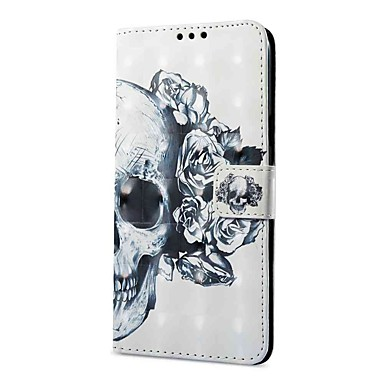 voordelige Galaxy S-serie hoesjes / covers-hoesje Voor Samsung Galaxy S9 / S9 Plus Portemonnee / Kaarthouder / met standaard Volledig hoesje Doodskoppen Hard PU-nahka
