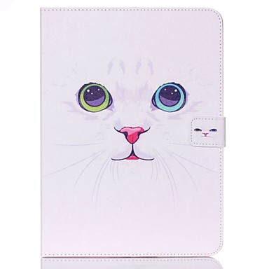 voordelige Samsung Tab-serie hoesjes / covers-hoesje Voor Samsung Tab 4 10.1 Portemonnee / Kaarthouder / met standaard Volledig hoesje Kat Hard PU-nahka