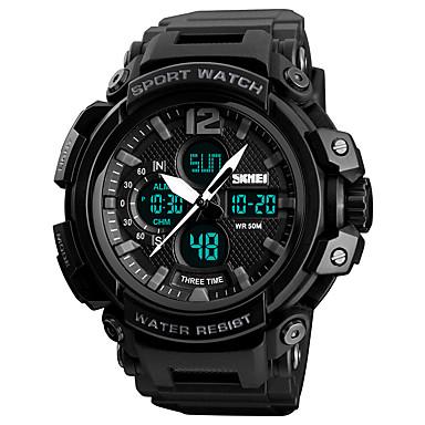 79f8107f80ce6 رخيصةأون ساعات الرجال-SKMEI رجالي ساعة رياضية ساعة عسكرية ساعة رقمية ياباني  رقمي جلد اصطناعي